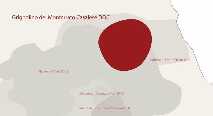 Mappa vini Grignolino del Monferrato Casalese