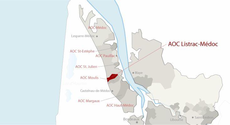 Mapa vinos Listrac-Médoc