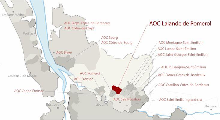 Mapa vinos Lalande-de-Pomerol