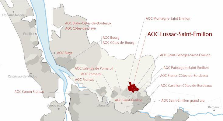 Mapa vinos Lussac-Saint-Émilion