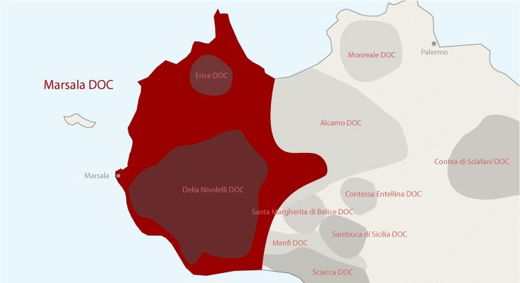 Mapa vinos Marsala