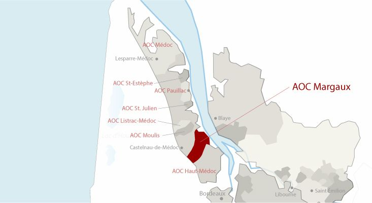 Mapa vinos Margaux