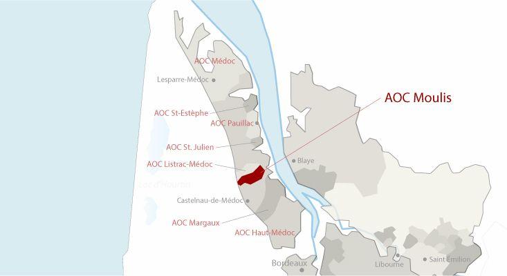 Mapa vinos Moulis-en-Médoc