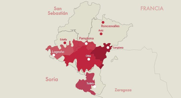 Mapa vinos Navarra