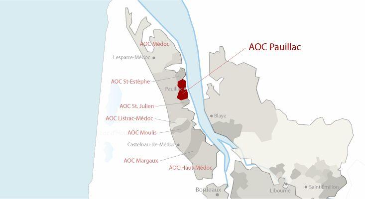 Mapa vinos Pauillac
