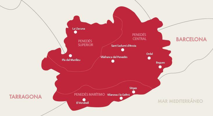 Karte Weine Penedès