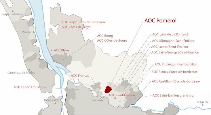 Mapa vinos Pomerol