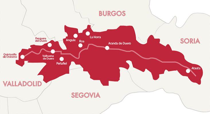 Karte Weine Ribera del Duero