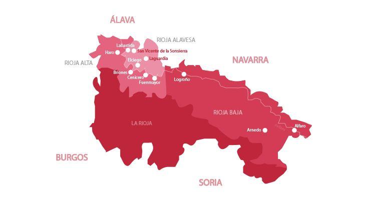 Mappa vini Rioja