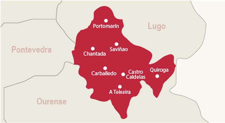 Ribeira Sacra wines map