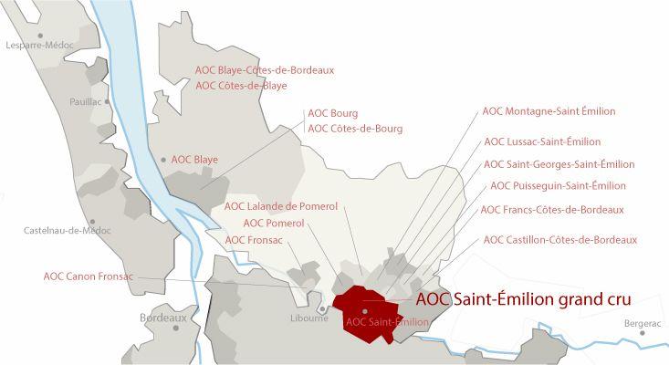 Mapa vinos Saint-Émilion Grand Cru
