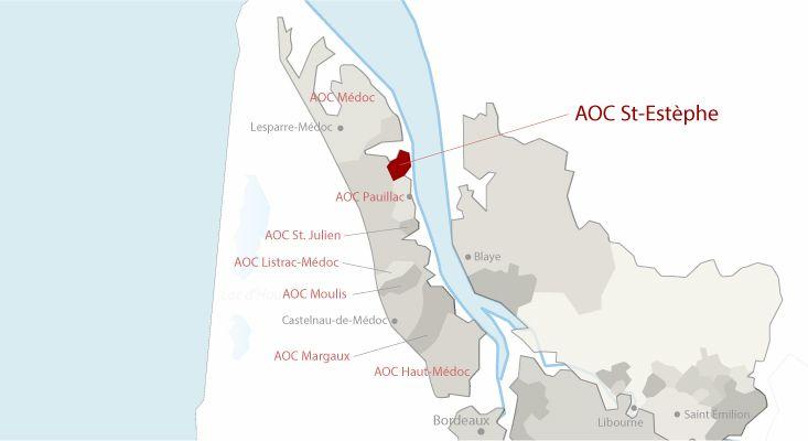 Mapa vinos Saint-Estèphe