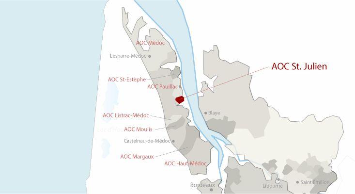 Mapa vinos Saint-Julien