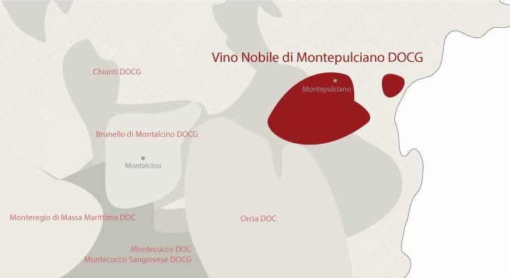 Vino Nobile di Montepulciano wines map