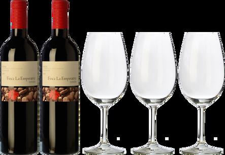 2 La Emperatriz Terruño  + 3 FREE wine glasses