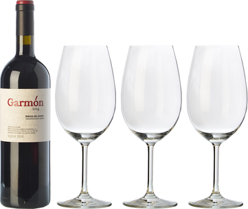 3 Garmón + 3 FREE wine glasses