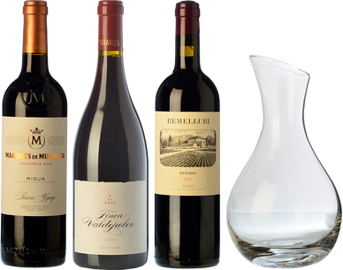 3 Rioja + Dekanter als GESCHENK