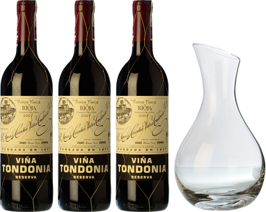 3 Tondonia Reserva + FREE Decanter