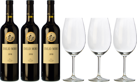 Emilio Moro + 3 copas de REGALO