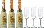 3 Cava Mestres La Coqueta + 3 FREE wine glasses