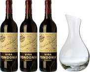 3 Tondonia Reserva + Decanter in REGALO