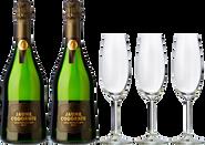 Jaume Codorníu Gran Reserva + 3 FREE wine glasses