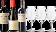 Rioja, Ribera und Priorat + 3 Gläser als GESCHENK