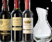 Rioja, Ribera und Priorat + Dekanter als GESCHENK
