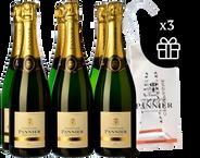 6 Champagne Pannier Brut Sélection + 3 Ice bag