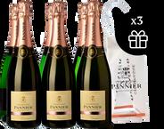 6 Champagne Pannier Rosé + 3 Ice bag