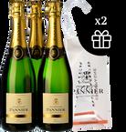 3 Champagne Pannier Brut Sélection + 2 Ice bag